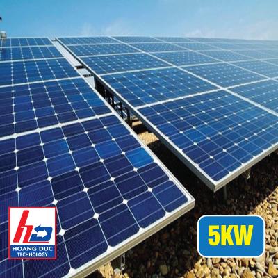 Điện năng lượng mặt trời hòa lưới cho hộ gia đình 5KW