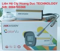 Camera HDTVI ColorVu 2MP HIKVISION DS-2CE12DF3T-FS