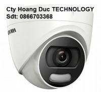 Camera HDTVI Colorvu 2MP Tích hợp đèn chớp màu & còi báo động & 1 ngõ ra alarm