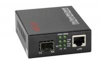 Converter APTEK AP110-20S-PoE dùng gắn module quang SFP 1 hoặc 2 sợi